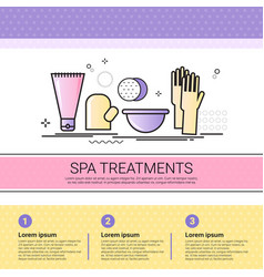 Spa treatment cosmetology infographics salon vector