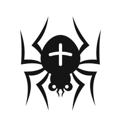 Spider with a cross on his back icon simple style vector image