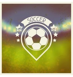 Sports label with soccer symbols vector image