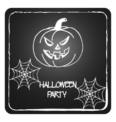 Stock cards template for halloween party vector