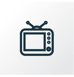 tv outline symbol premium quality isolated vector image