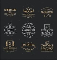 vintage badges retro vector image vector image