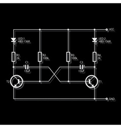 Wiring diagram for electronics eps10 vector