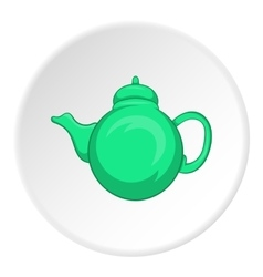 Kettle icon cartoon style vector