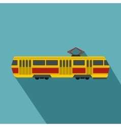 Tram icon flat style vector