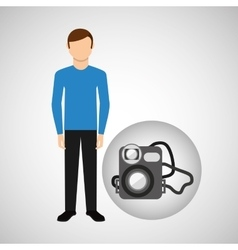 Character man movie concept digital camera vector