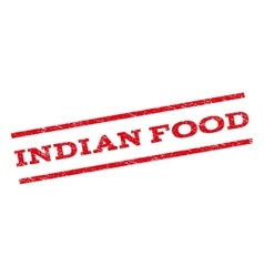 Indian food watermark stamp vector
