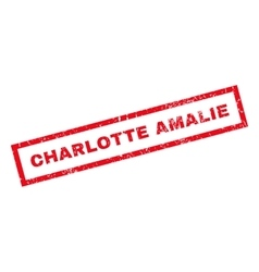 Charlotte amalie rubber stamp vector