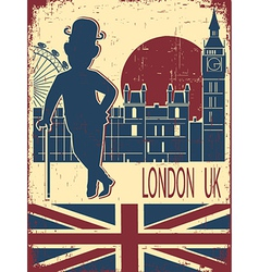 Gentleman with london background vector
