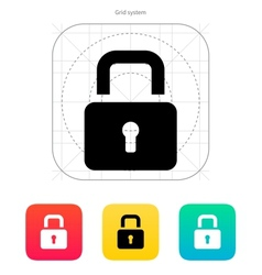 Padlock close icon vector