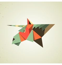 Magic origami unicorn from folded paper vector