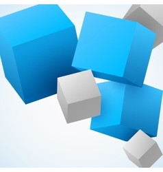 Abstract 3d cubes background vector