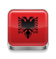 Metal icon of albania vector