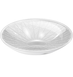 Empty white bowl vector