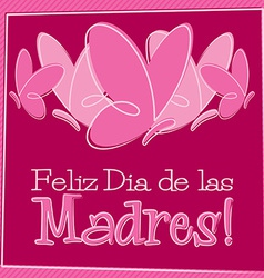 Hand drawn spanish happy mothers day card in vector