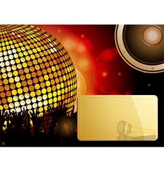 Disco ball and crowd with speaker and message vector
