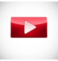 Play button red color vector
