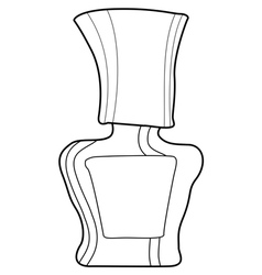 Bottle of nail polish vector