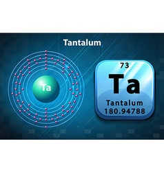 Symbol and electron diagram for tantalum vector