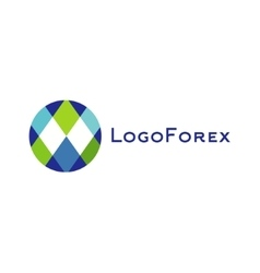 Abstract logo for forex companies trending flat vector