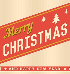 Merry Christmas Hand Lettering Typographical vector image