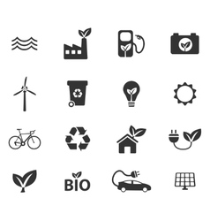 Alternative energy simply icons vector image