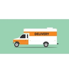 Delivery truck van service car transportation vector