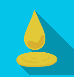 A drop of olive oilolives single icon in flat vector
