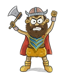 angry viking man vector image