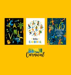 Brazil carnival templates for carnival vector