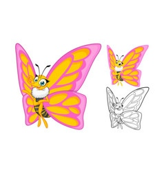 Butterfly Cartoon Character vector image