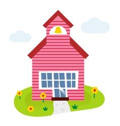 Cartoon school vector image vector image
