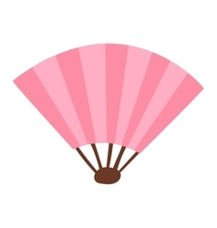 Chinese fan traditional asian isolated vector