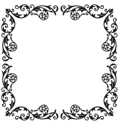 Corner elements Decorative vintage ornament for vector image