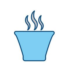 Cup hot drink vector