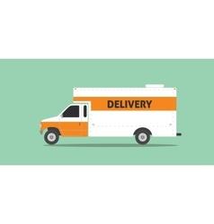 Delivery truck van service car transportation vector