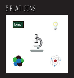 Flat science set of orbit glass proton and other vector