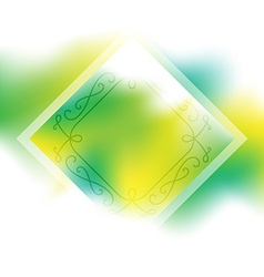 Fresh Spring Background with border Abstract vector image