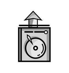 Grayscale data hdd system server technology vector