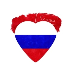 Heart in national colours of russia vector
