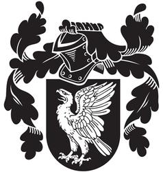 Heraldic silhouette no13 vector