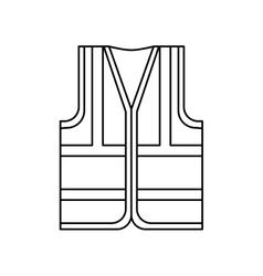 Industrial vest wear vector