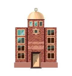 Jewish synagogue icon isolated on white background vector image vector image