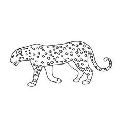 Leopardafrican safari single icon in outline vector