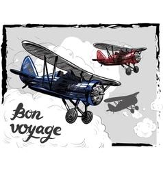 Lets travel concept Retro vector image