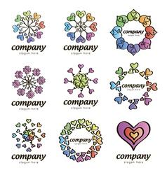 Logo love vector