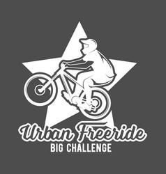 Mountain bike badges vector