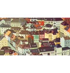 Old traditional Europe city vector image