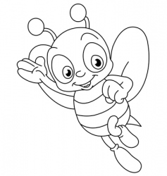 Outlined bee vector