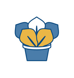 Plant in a pot icon vector